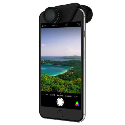 Объектив Olloclip 2-in-1 Active Lens Set для iPhone 6/6S / 6/6S PLUS Black Lens / Black Clip